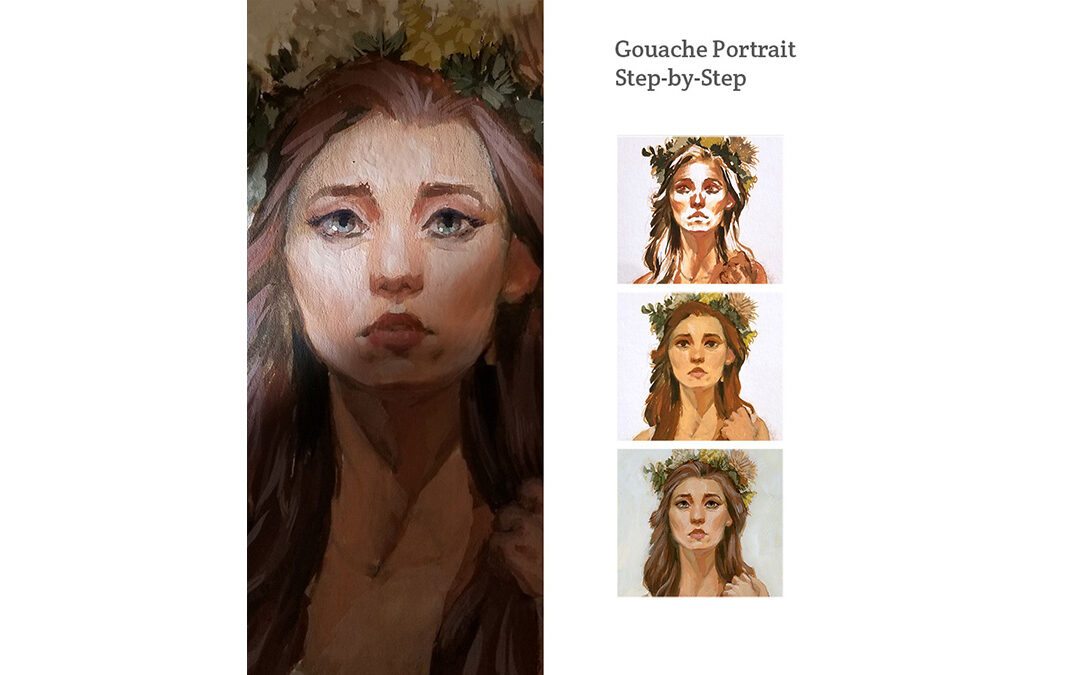 Painting a Portrait in Gouache From a Live Model